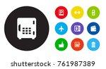 set of 10 motel icons set... | Shutterstock .eps vector #761987389