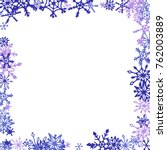 winter frame with cute doodle... | Shutterstock .eps vector #762003889