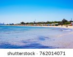 brighton beach and colorful...   Shutterstock . vector #762014071