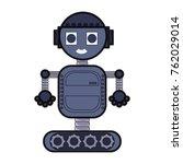 cartoon robot design  | Shutterstock .eps vector #762029014
