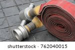 roll fire extinguisher. | Shutterstock . vector #762040015