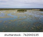 aerial view of small island... | Shutterstock . vector #762043135