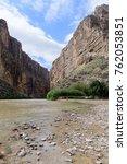 Rio Grande On The Usa Mexico...