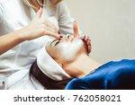 facial peels at the salon | Shutterstock . vector #762058021