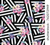abstract floral pattern in... | Shutterstock .eps vector #762072949