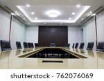 modern meeting room with table... | Shutterstock . vector #762076069
