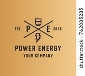 logo power of energy abstract... | Shutterstock .eps vector #762085285
