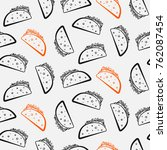 nice seamless pattern with cute ... | Shutterstock .eps vector #762087454