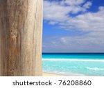 Caribbean Tropical Beach Wood...