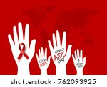 world aids day design of red... | Shutterstock .eps vector #762093925