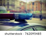 sirens of police cars during... | Shutterstock . vector #762095485