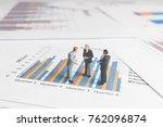 miniature people   businessman...   Shutterstock . vector #762096874