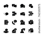 bubble icon set logo...   Shutterstock .eps vector #762102571