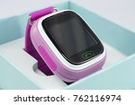 clock with gps tracker in box... | Shutterstock . vector #762116974