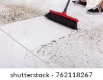 high angle view of broom...   Shutterstock . vector #762118267