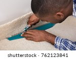 close up of a craftsman fitting ... | Shutterstock . vector #762123841