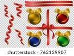 a set of vector christmas tree... | Shutterstock .eps vector #762129907