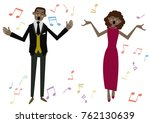music clip art.gospel. jazz... | Shutterstock .eps vector #762130639