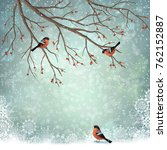 vector winter landscape. frosty ...   Shutterstock .eps vector #762152887