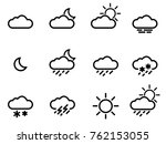 weather forecast icons set... | Shutterstock .eps vector #762153055