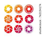 set of camera lenses  logo... | Shutterstock .eps vector #762154174