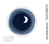 moon and stars. concept idea.... | Shutterstock .eps vector #762158374