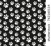 seamless pattern in the dog's... | Shutterstock .eps vector #762160114