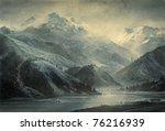 Mountain Landscape. Acrylic On...