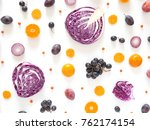composition of vegetables and... | Shutterstock . vector #762174154