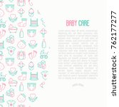 baby care concept with thin... | Shutterstock .eps vector #762177277