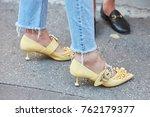 milan   september 22  woman...   Shutterstock . vector #762179377