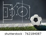 soccer ball with graphic a... | Shutterstock . vector #762184087