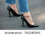 milan   september 22  woman...   Shutterstock . vector #762185341