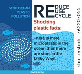 stop plastic pollution reduce ... | Shutterstock .eps vector #762207055