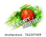 basketball points  lines ... | Shutterstock .eps vector #762207409
