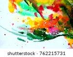 abstract watercolor texture.... | Shutterstock . vector #762215731