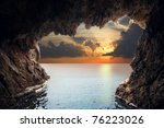 Inside View Of Grotto In Coast. ...