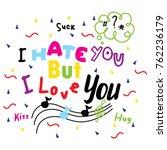 doodles sketch typography | Shutterstock .eps vector #762236179
