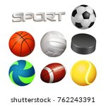balls set sports | Shutterstock .eps vector #762243391
