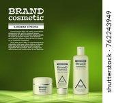 3d realistic cosmetic bottle... | Shutterstock .eps vector #762243949