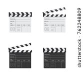 clapper board black and white... | Shutterstock .eps vector #762248809