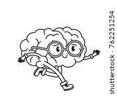 brain cartoon design | Shutterstock .eps vector #762251254