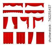 luxury scarlet red silk velvet...   Shutterstock . vector #762251437