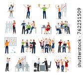 business startup work moments... | Shutterstock . vector #762251509