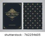 christmas greeting card design. ... | Shutterstock .eps vector #762254605