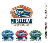 template of muscle car logo ... | Shutterstock .eps vector #762255217