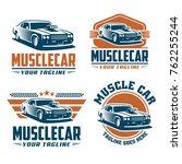 template of muscle car logo ... | Shutterstock .eps vector #762255244