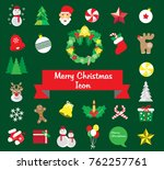 merry christmas icon  card ... | Shutterstock .eps vector #762257761