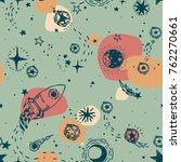 seamless pattern for journey to ... | Shutterstock .eps vector #762270661