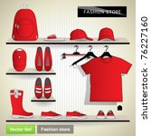 fashion store. vector set | Shutterstock .eps vector #76227160